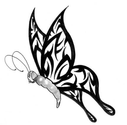 butterfly tattoo designs the body is a canvas. Black Bedroom Furniture Sets. Home Design Ideas