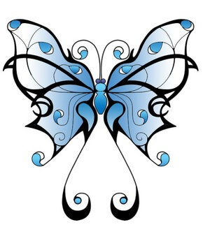 Butterfly tattoo designs the body is a canvas - Comment dessiner un papillon ...