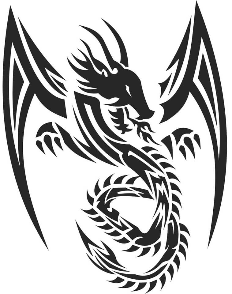 Black Line Drawing Tattoos : Dragon tattoo designs the body is a canvas