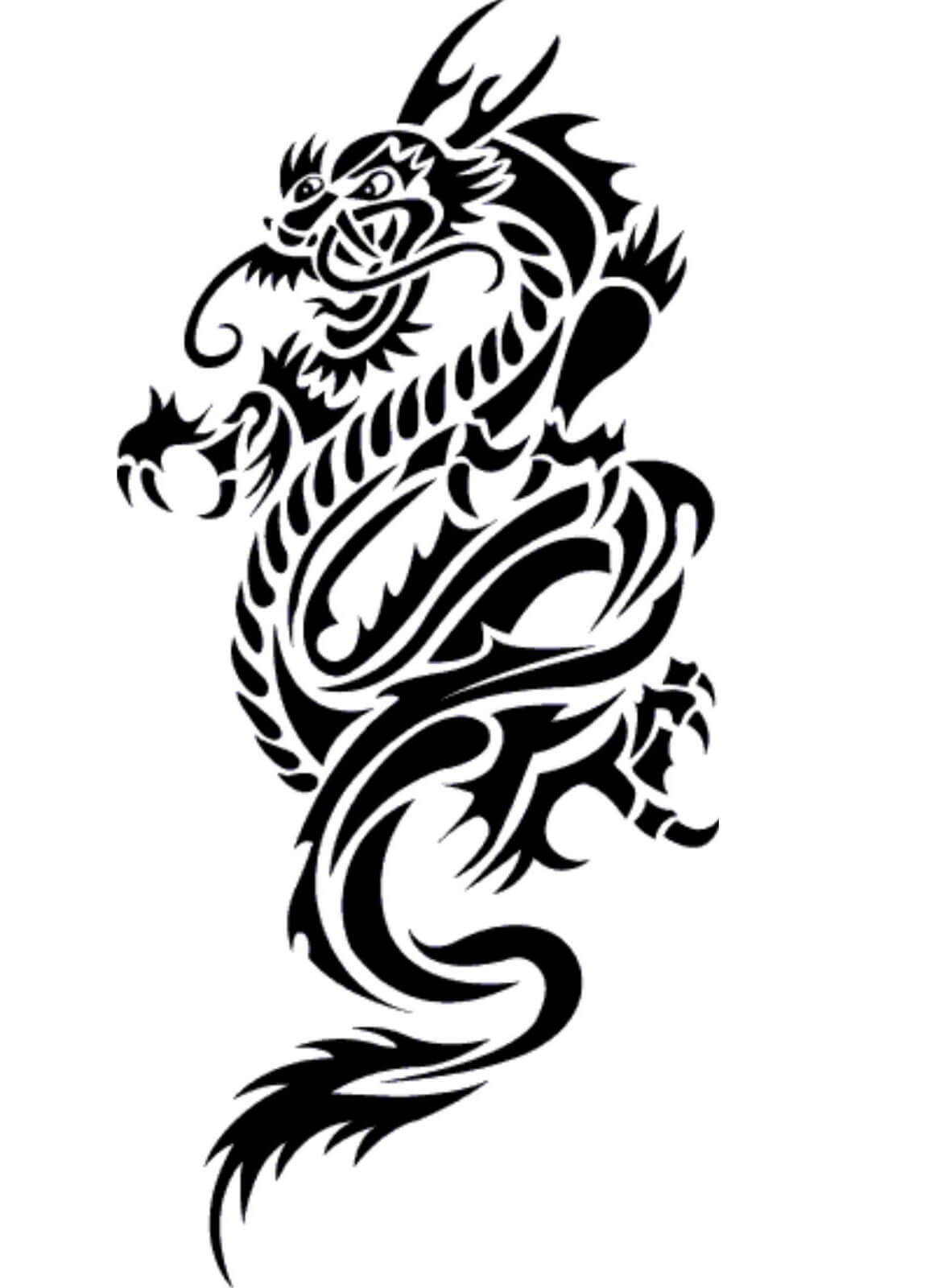 dragon body tattoo designs the image kid has it. Black Bedroom Furniture Sets. Home Design Ideas
