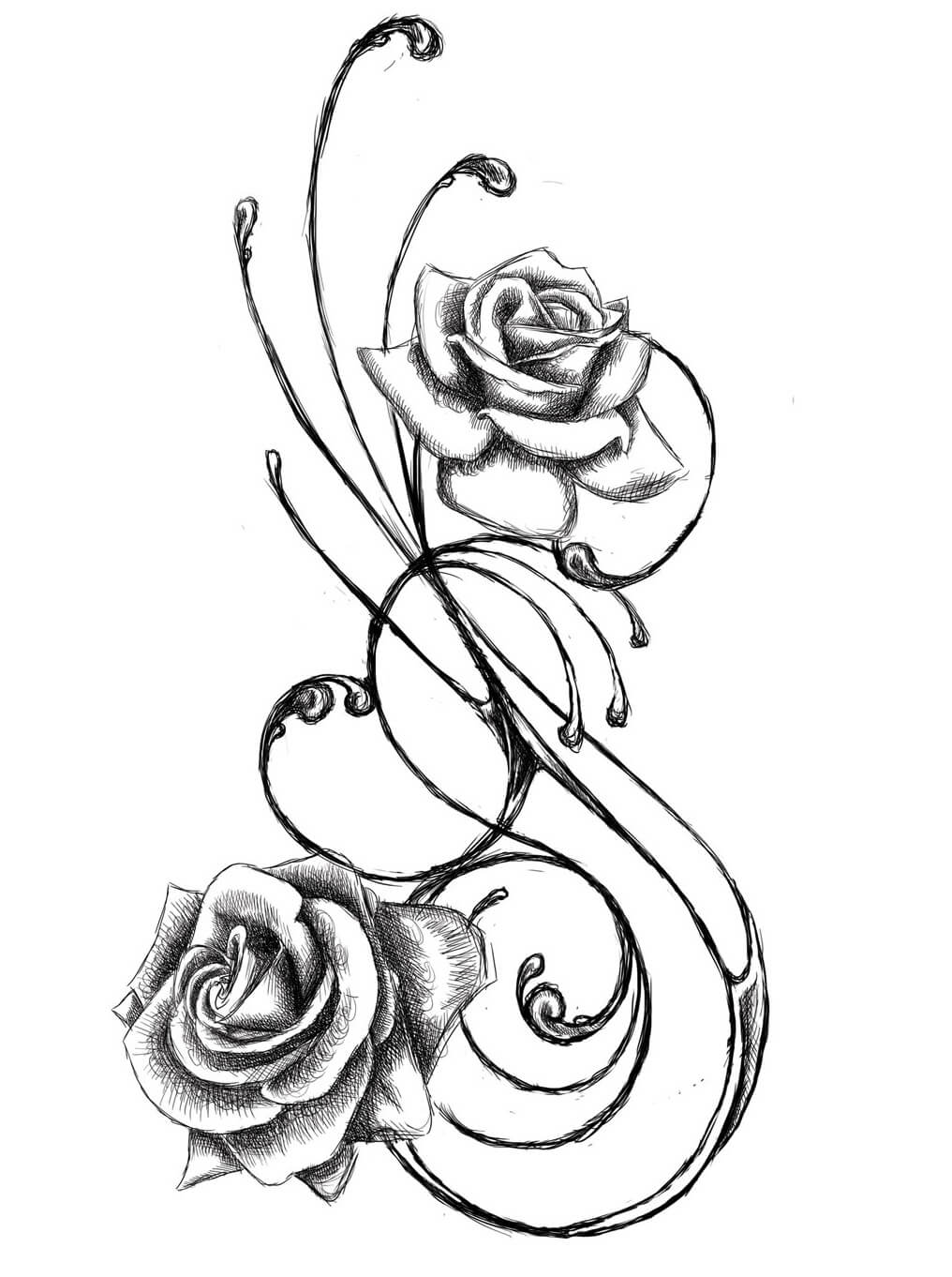 Tattoo Design Line Art : Flower tattoo designs the body is a canvas