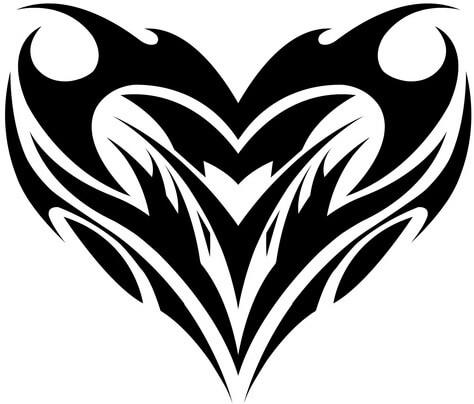 d6dff52104fd3 Heart Tattoo Design - see more designs on https://thebodyisacanvas.com