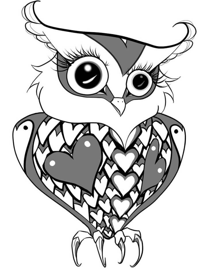 tattoo owl coloring pages - photo#18