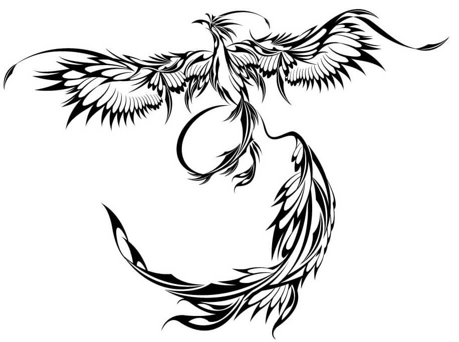 2b11fdf97 Phoenix Tattoo Design - see more designs on https://thebodyisacanvas.com