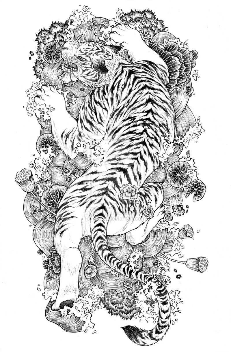 Tiger tattoo designs the body is a canvas for White tiger tattoo