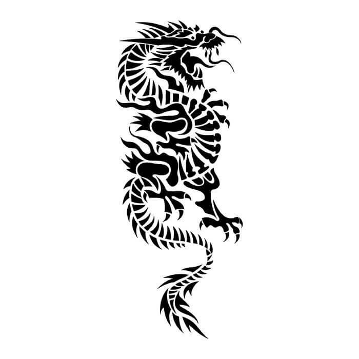 Black Dragon Tribal Tattoo Designs