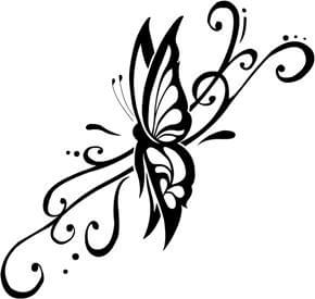 Butterfly Tattoo Design - see more designs on https://thebodyisacanvas.com