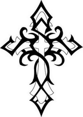 Cross Tattoo Design - see more designs on https://thebodyisacanvas.com