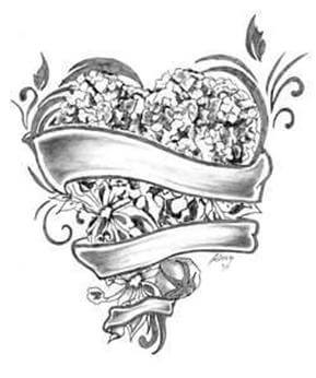 Heart Tattoo Design - see more designs on https://thebodyisacanvas.com