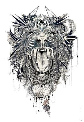 Lion Tattoo Design - see more designs on https://thebodyisacanvas.com