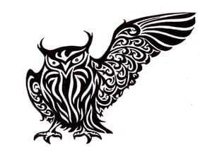 Owl Tattoo Design - see more designs on https://thebodyisacanvas.com