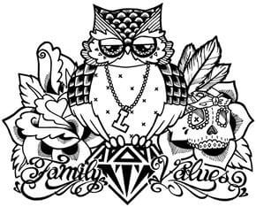 Owl Tattoo Design - see more designs on http://thebodyisacanvas.com