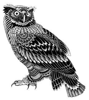 Owl Tattoo Design - see more designs on https://thebodyisacanvas.com