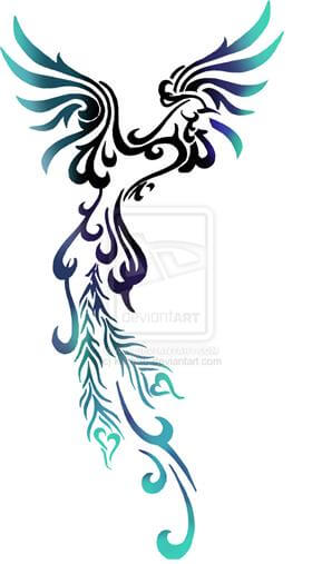 Phoenix Tattoo Design - see more designs on https://thebodyisacanvas.com