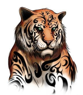 Tiger Tattoo Design - see more designs on https://thebodyisacanvas.com