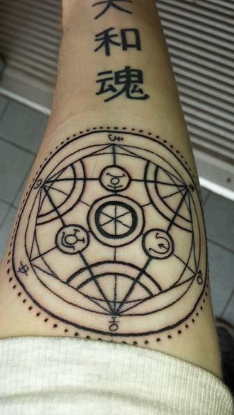 19 Fullmetal Alchemist Tattoos - The Body is a Canvas #fullmetal #alchemist #fma #tattoos