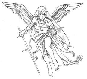 Angel Tattoo Design - see more designs on http://thebodyisacanvas.com