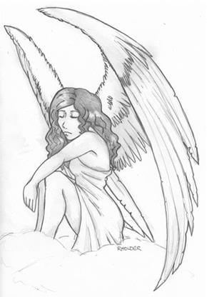 Angel Tattoo Design - see more designs on https://thebodyisacanvas.com