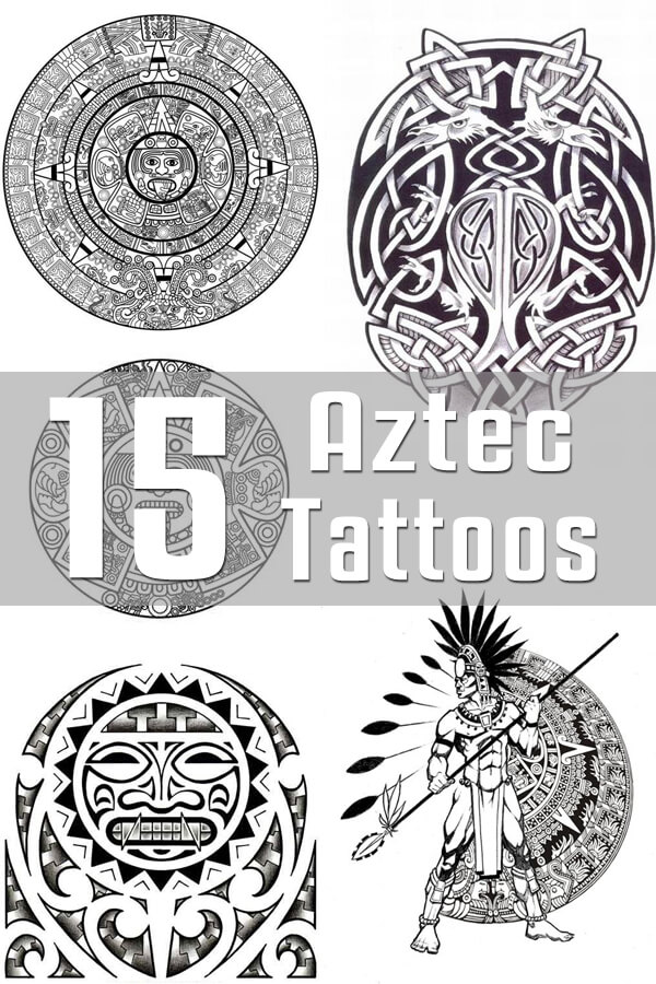 aztec tattoo designs the body is a canvas. Black Bedroom Furniture Sets. Home Design Ideas