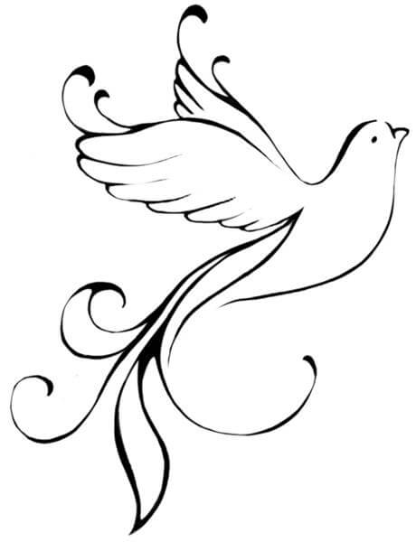 Line Art Dove : Dove tattoo designs the body is a canvas
