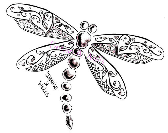 Dragonfly Tattoo Line Drawing : Dragonfly tattoo designs the body is a canvas