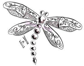 Dragonfly Tattoo Design - see more designs on https://thebodyisacanvas.com