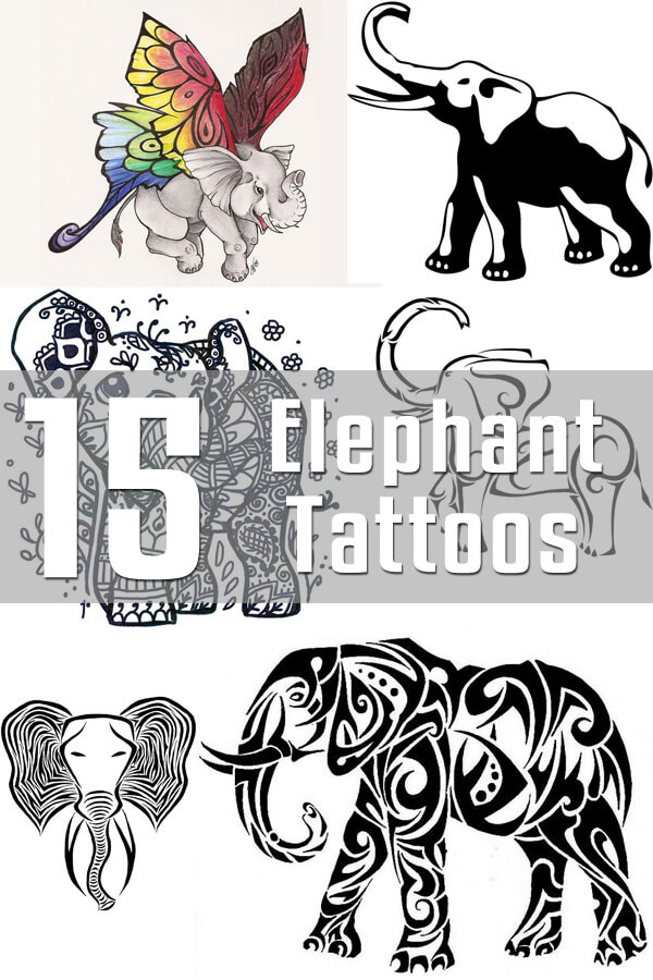 elephant tattoo designs the body is a canvas. Black Bedroom Furniture Sets. Home Design Ideas