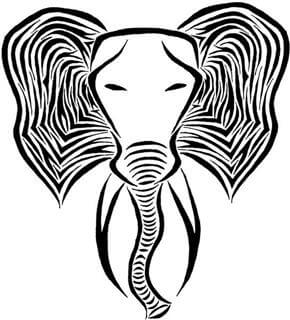 Elephant Tattoo Design - see more designs on https://thebodyisacanvas.com
