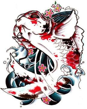 Koi Tattoo Design - see more designs on http://thebodyisacanvas.com