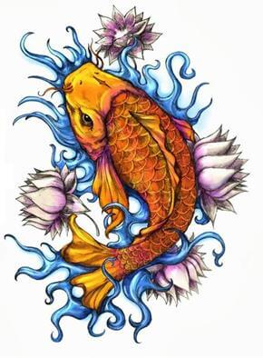 Koi Tattoo Design - see more designs on https://thebodyisacanvas.com