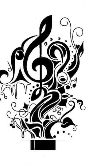 Music Tattoo Design - see more designs on http://thebodyisacanvas.com