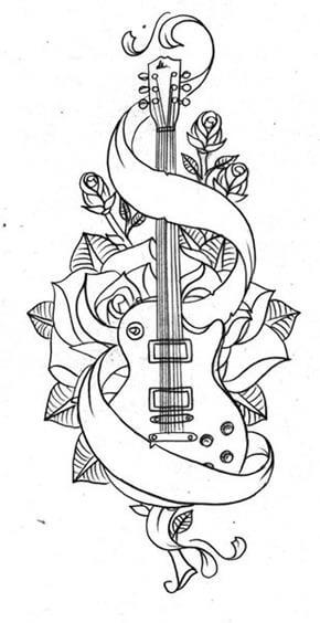 Music Tattoo Design - see more designs on https://thebodyisacanvas.com