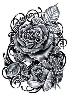 Rose Tattoo Design - see more designs on https://thebodyisacanvas.com