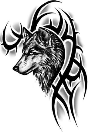Wolf Tattoo Design - see more designs on https://thebodyisacanvas.com