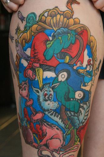 18 Whimsical Dr. Seuss Tattoos - The Body is a Canvas #drseuss #tattoos #tattooideas