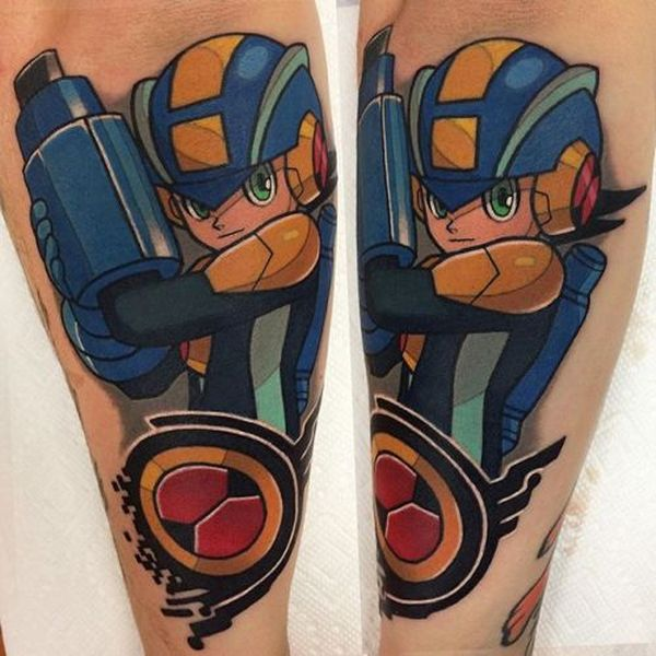 30 Mega Man Tattoos - The Body is a Canvas #MegaMan #tattoos #tattooideas