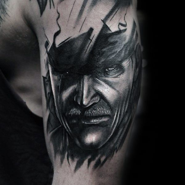 30 Metal Gear Tattoos - The Body is a Canvas #MetalGear #tattoos #tatooideas
