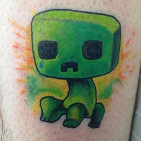 22 Minecraft Tattoos - The Body is a Canvas #Minecraft #tattoos #tattooideas