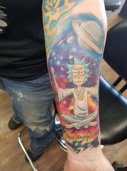 23 Rick and Morty Tattoos - The Body is a Canvas #RickAndMorty #tattoos #tattooideas