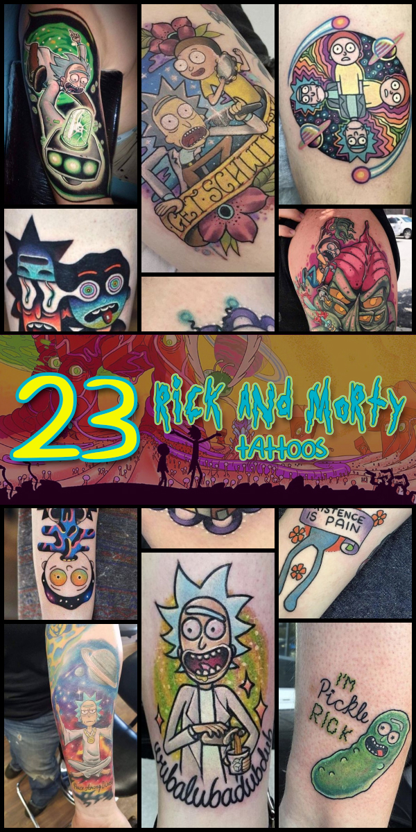 0e38329dc 23 Rick and Morty Tattoos - The Body is a Canvas #RickAndMorty #tattoos #