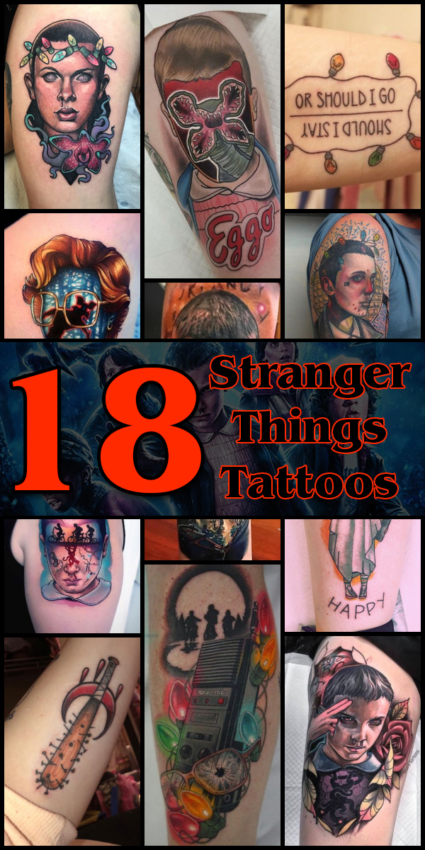 18 Stranger Things Tattoos - The Body is a Canvas #StrangerThings #tattoos #tattooideas