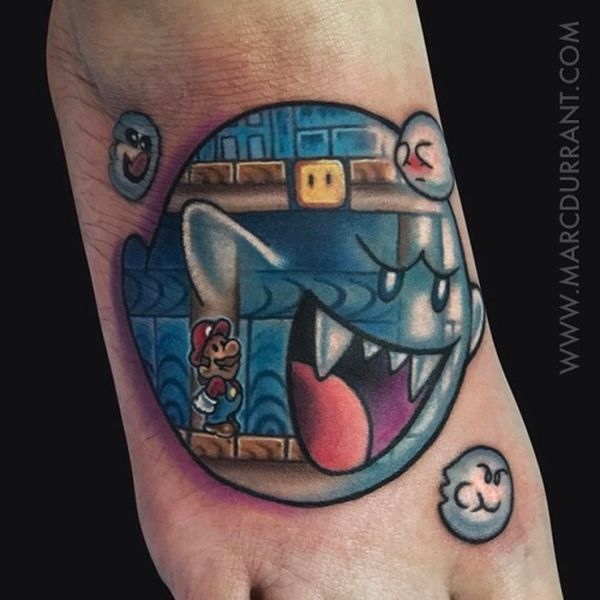 22 Super Mario Tattoos The Body Is A Canvas