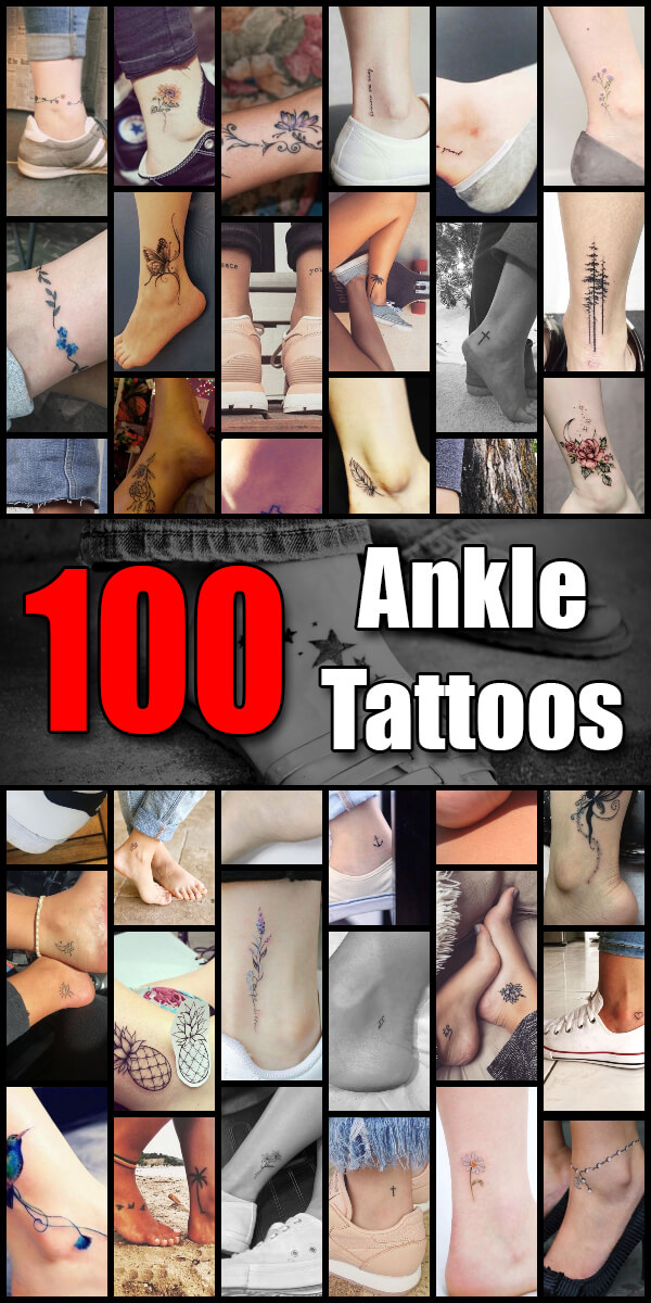 100 Ankle Tattoo Ideas for Men and Women - The Body is a Canvas