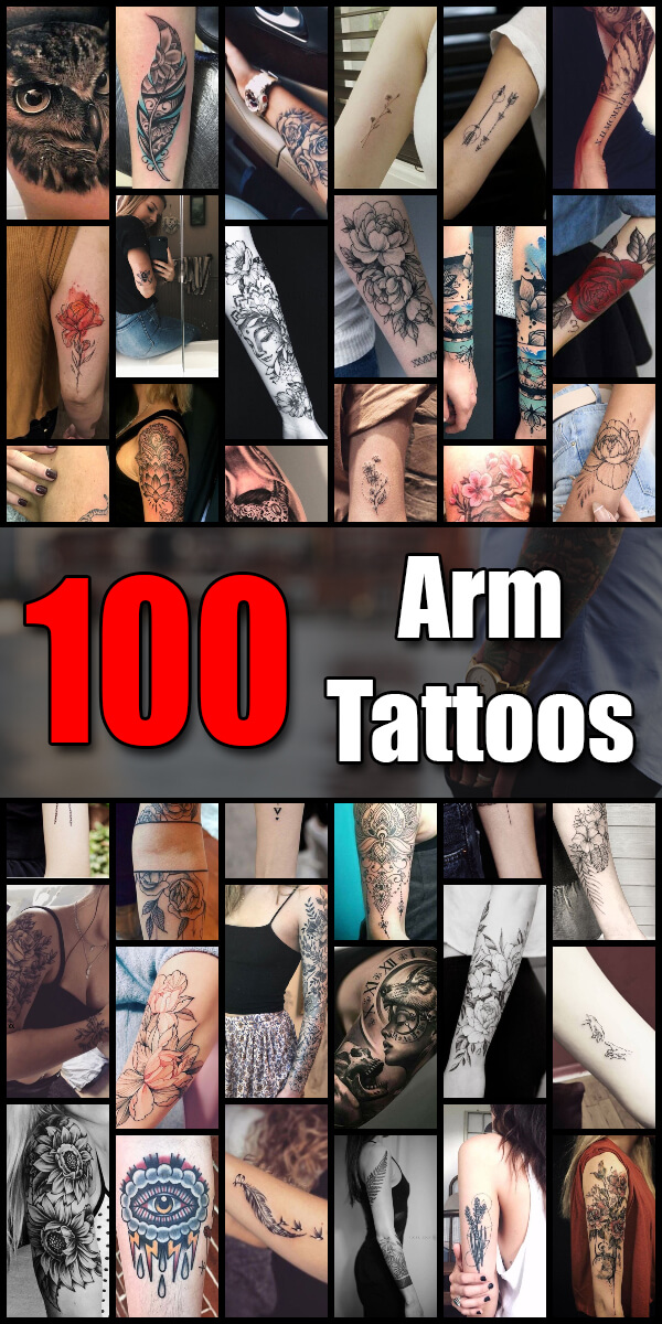 100 Arm Tattoo Ideas for Men and Women - The Body is a Canvas