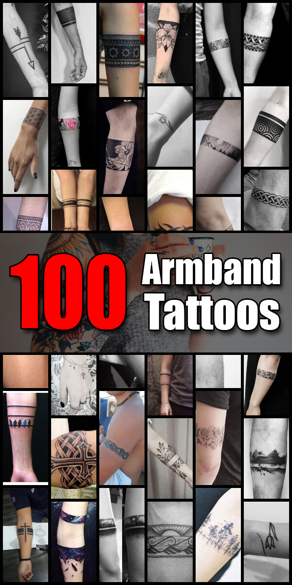 100 Armband Tattoo Ideas for Men and Women - The Body is a Canvas
